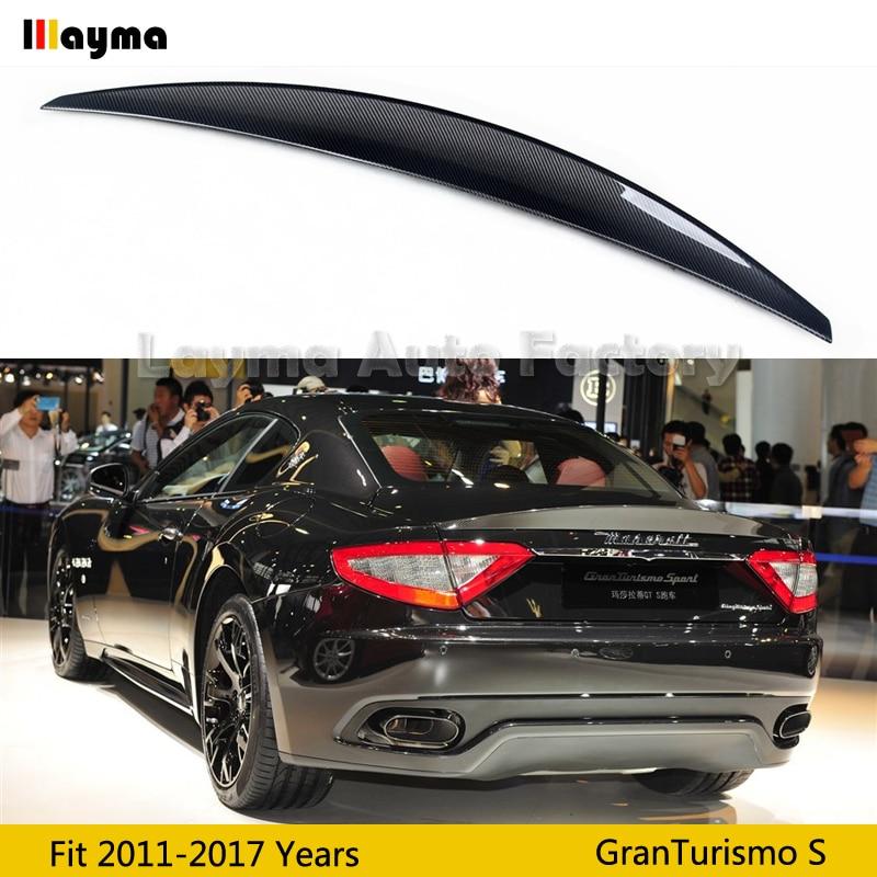 Nov style Carbon fiber rear trunk spoiler For Maserati Gran Turismo Sport 4 7T Coupe 2011