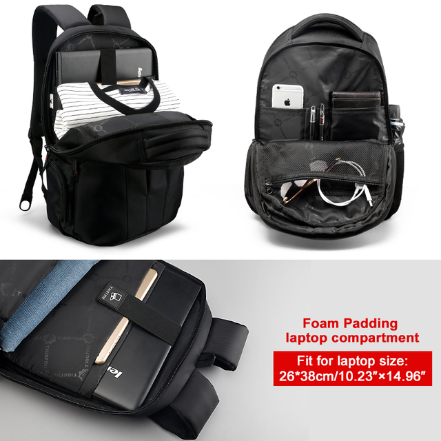 Tigernu Waterproof 15.6inch Laptop Backpack NO Key TSA Anti Theft Men Backpacks Travel Teenage Backpack bag male bagpack mochila 4