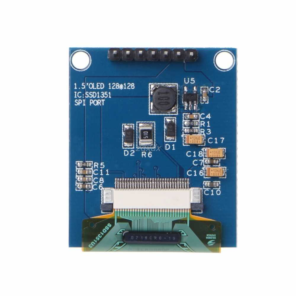 "1 Pc 1.5 Inch 128x128 SPI OLED LCD Display Module Full Color Driver IC SSD135 4x3.5cm/1.57x1.38"" July DropShip"