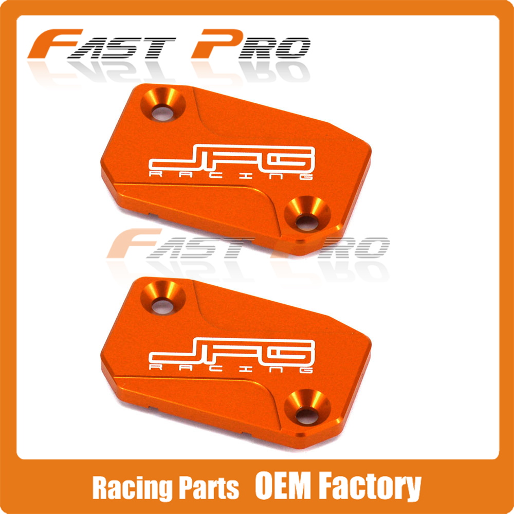 CNC Front Clutch & Brake Fluid Reservoir Cover Cap Fit For KTM SX SXF SMR EXC EXC-F XC XC-W XC-F 125-530 250 350 450 525 200 300 orange cnc billet factory oil filter cover for ktm sx exc xc f xcf w 250 400 450 520 525 540 950 990