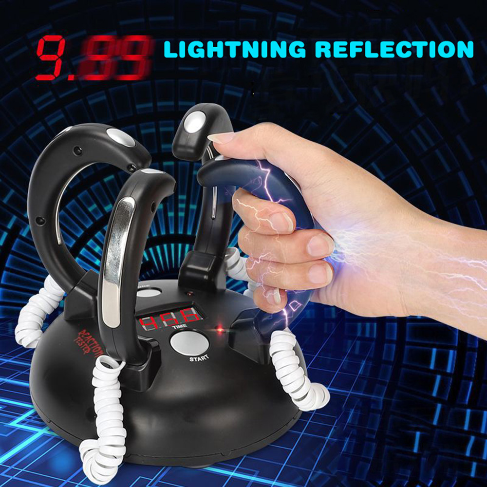Electric Shocking Lie Detector Adjustable Reaction Toy Adults Bar Party Entertainment Liar Truth Desktop Reaction Game Console