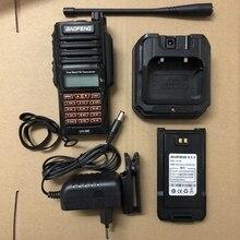 9r rádio em dois sentidos 2800mah walkie talkie uhf vhf estação de rádio ip67 à prova dip67 água baofeng uv 9r rádio em dois sentidos uv9r caça rádio