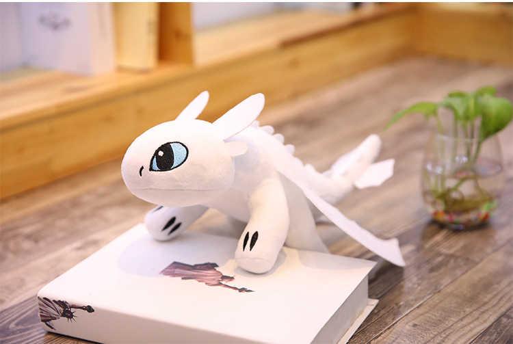 2019 Como Treinar O Seu Dragão 3 35 centímetros de Brinquedo de Pelúcia-60 centímetros Desdentado Fúria da Luz/Noite Fúria stuffed Boneca Presente