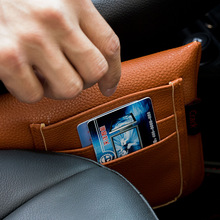 Featured Quality Car Seat Gap Filler Pockets PU Leather