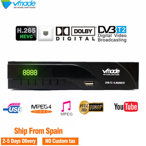 Image 1 - DVB T2 FULL HD 1080P Digital Terrestrial TV receiver DVB T2 K6 Built in network port support Youtube Dolby AC3 H.265 DVB TV BOX