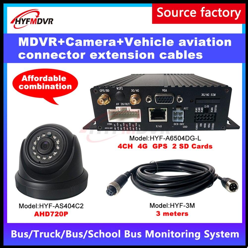 Otomobiller ve Motosikletler'ten Araba Çok açılı Kamera'de Kaynak fabrika 4 kanal AHD960P piksel 4G GPS mobil DVR 2 inç geri görüntü araba kamera beton araba/ tankeri PAL/NTSC MDVR title=
