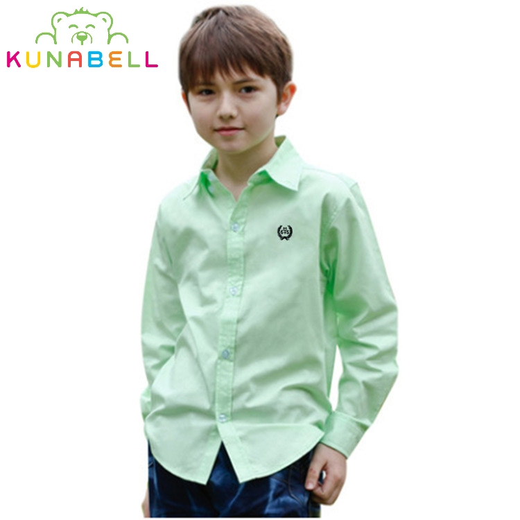 Shirts For Boys Brand Boys Blouses Long Sleeve Formal Shirts For Boys Cotton Children Teenage Clothes