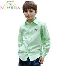 Chemises Pour Garçons Marque Garçons Blouses À Manches Longues Chemises Formelles Pour Garçons Coton Enfants Vêtements Adolescentes Enfants Uniformes Scolaires W5
