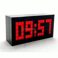 Luminova большие светодиодные цифровые часы  современные офисные электронные настольные часы