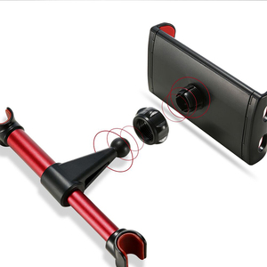 Image 5 - 자동차 전화 홀더 뒷좌석 태블릿 스탠드 브래킷 화웨이 Mediapad X2 X1 T3 7 10 M3 Lite M5 P20 Lite for iPhone XS Max X 삼성 S9