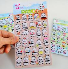 Cute Panda Crystal Decorative Washi Stickers Scrapbooking Stick Label Diary Stationery Album Stickers