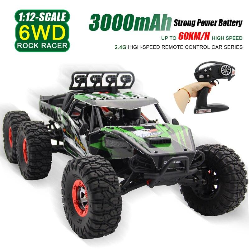60KM / H BIGSMYO 1:12 2.4G 6WD RC Mașină de mare viteză 6 Roți - Jucării cu telecomandă
