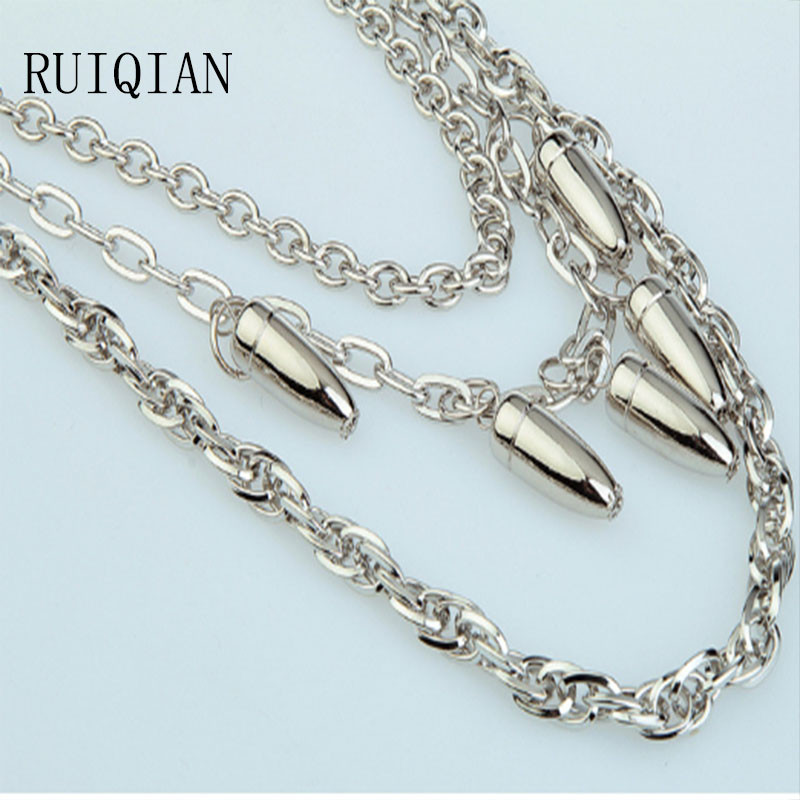Punk Men And Women Metal Link Chain Jewelry Pant Accessories Bullet Waist Chain Mail Bag Buy One Get One RIQI35