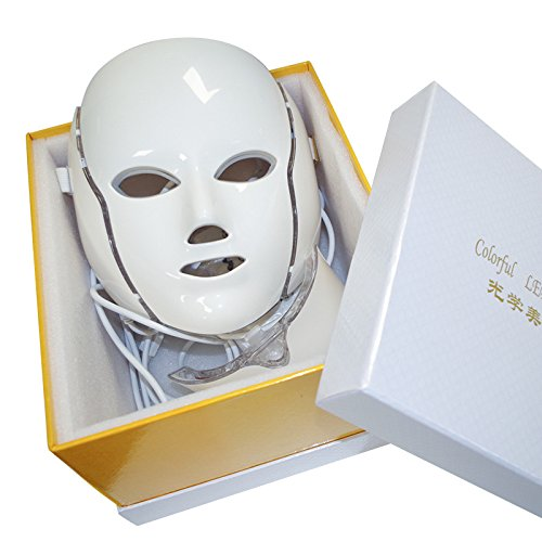 2017 upgraded PDT photon led facial mask 7 colors led light therapy skin rejuvenation wrinkle removal beauty machine facial mask 7 colors light photon electric led facial neck mask skin pdt skin rejuvenation anti acne wrinkle removal therapy beauty salon