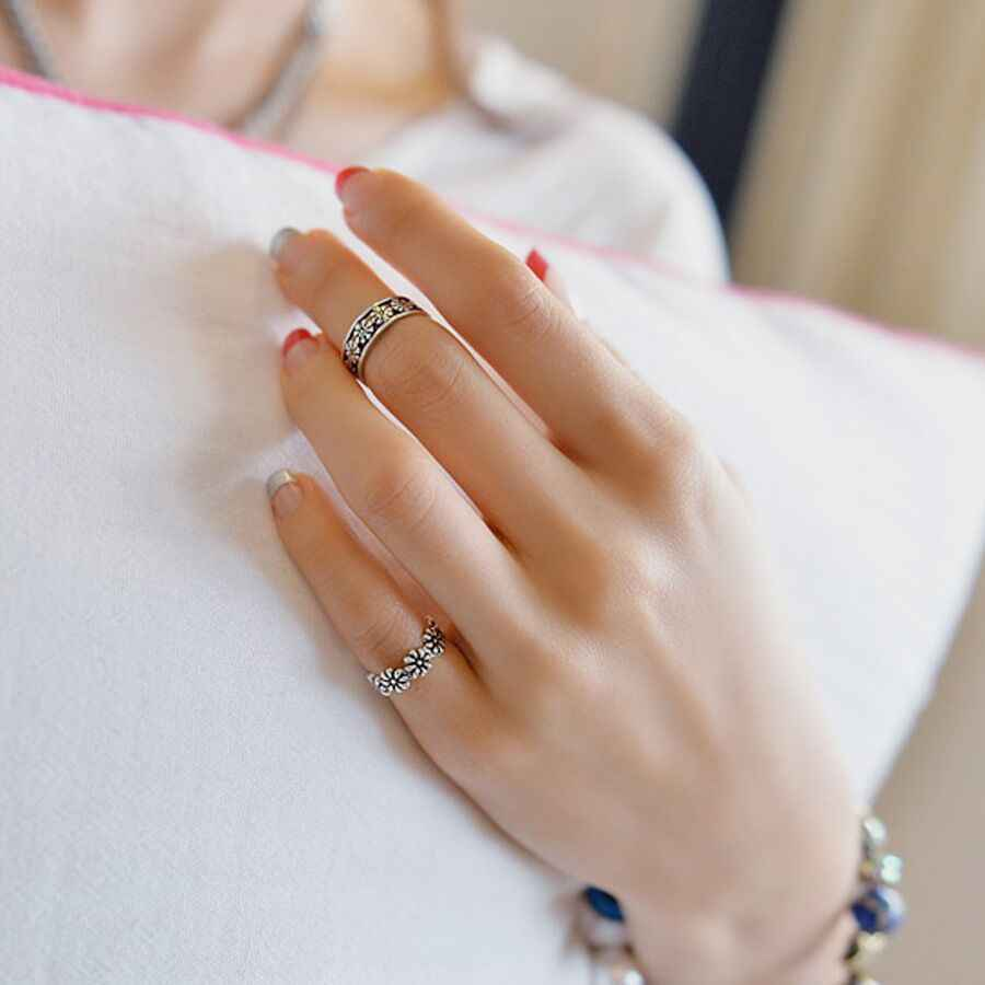 New Fashion Beach Toe Rings Rose Gold Anti-allergy Smooth Simple Wedding Couples Rings Bijouterie for Man or Woman Gift