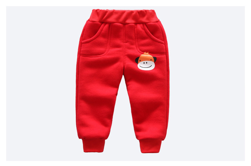 Winter baby warm cotton pants for boys and girls sport pants kids child plus velvet thickening pants children trousers (2)