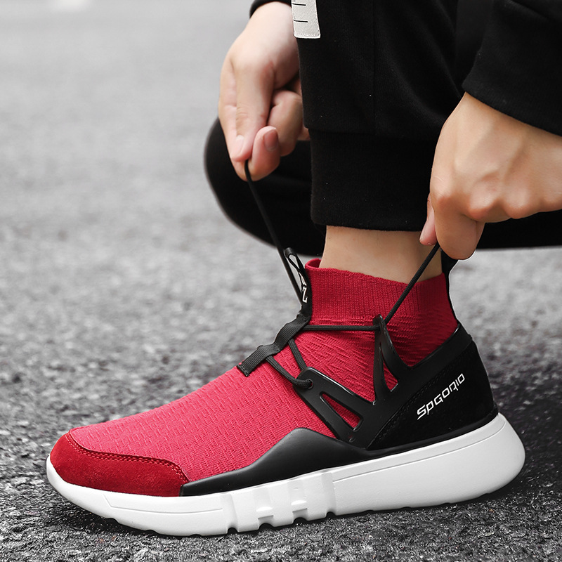 Autumn new socks shoes feet youth wild round wear-resistant fly woven increased running shoes
