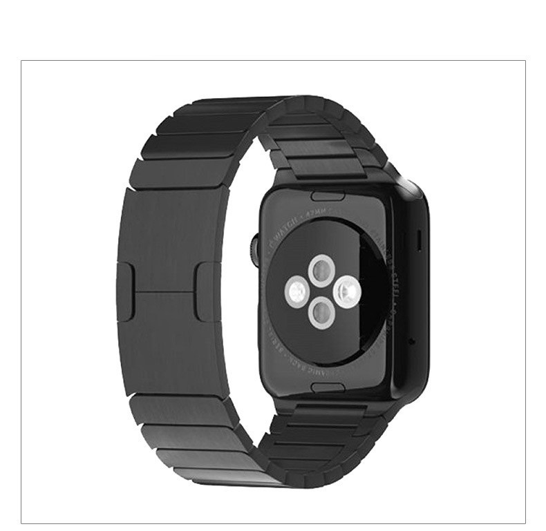 ФОТО DHL Chain link Bracelet watchband for Apple Watch 316L stainless steel strap 11  design original buckle iWatch