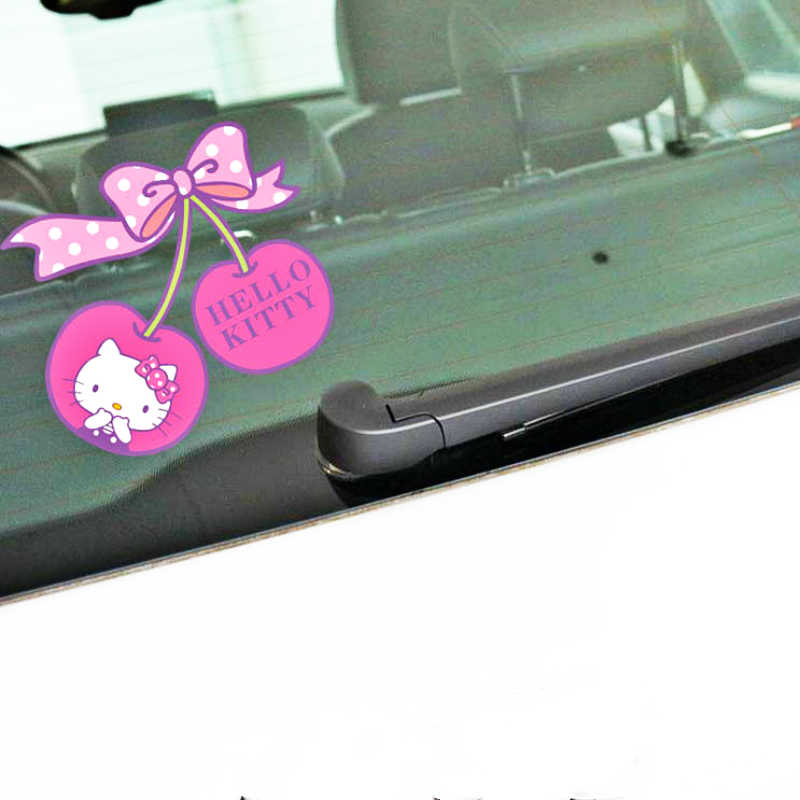 575563bd9 Detail Feedback Questions about Volkrays Car Accessories Hello Kitty Cherry  Cartoon Sticker Decal Decoration for Motorcycle Fridge Trolley Case Polo  Kia ...