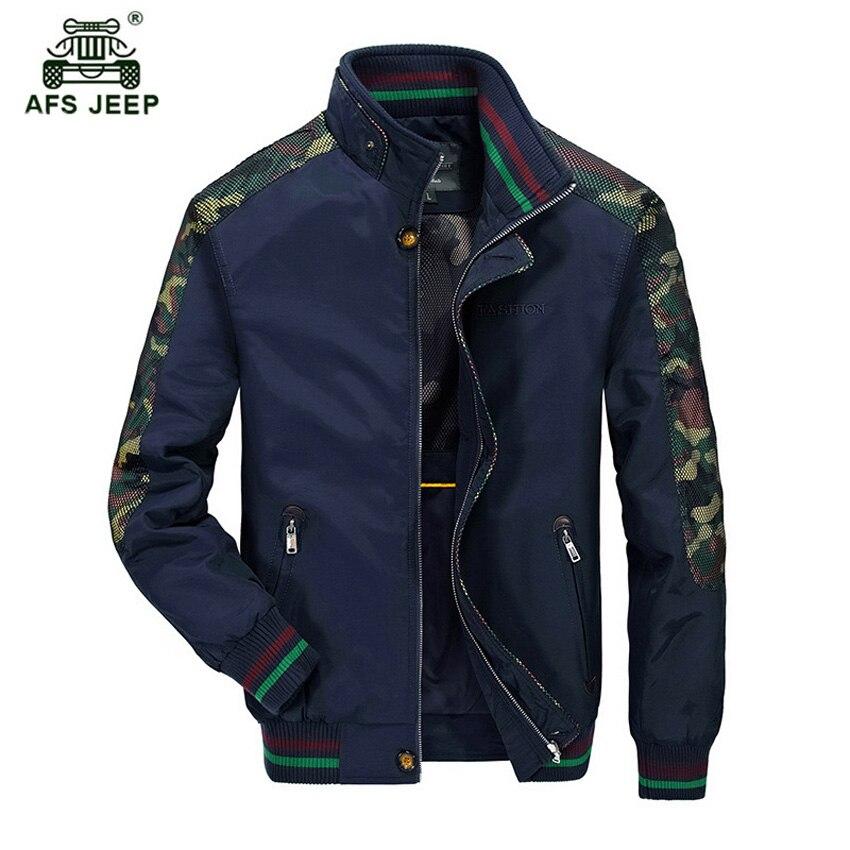 AFS JEEP 2018 printemps nouvelle veste hommes décontracté mince Section col grande taille Top confortable hommes veste h120