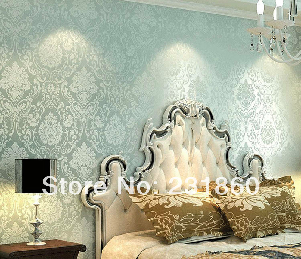 Superior Quality Damask Pattern Non Woven Fabric Wallpaper Not Self Adhesive In Wall Stickers From Home Garden On Aliexpress Alibaba Group