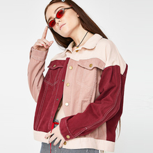 2019 KISSMILK European And American Fashion Simple Ins Sweet Girl College Style Red Pink Patchwork Coat Of Large Size
