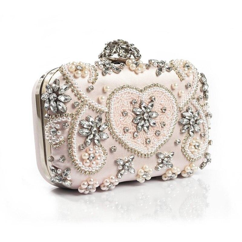 New fashion luxury crystal diamond Clutch bridal Evening party handbag 5044