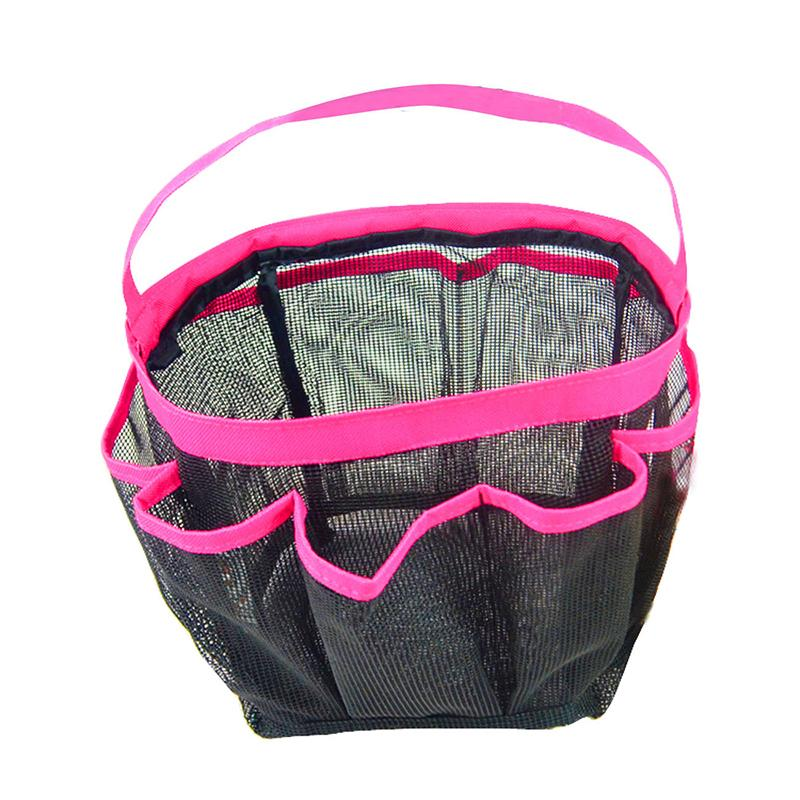 Hanging Bath Bag 8 Pocket Shower Mesh Portable Quick Dry Home Dorm Gym Toiletry Carry All 21 24cm In Bathroom Accessories Sets From