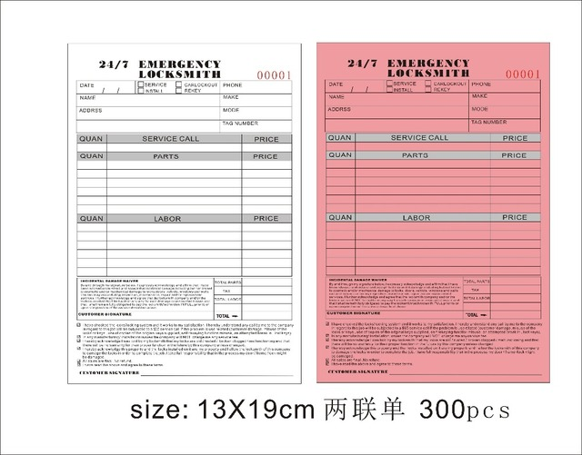 picture about Fedex Door Tag Printable named US $720.0 Tailor made print Dimension13X19cm Bill textbooks ,Carbonless receipt monthly bill e-book 300desktops ,involve shiping as a result of DHL Fedex towards United states-within Image Als against