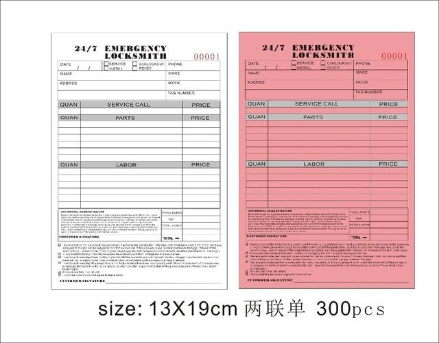 Custom Print SizeXcm Invoice Books Carbonless Receipt Invoice - Custom invoice book