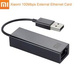 Оригинал Сяо Mi USB внешний Fast Ethernet карты Mi USB2.0 к ethernet кабель сетевой адаптер 10/100 Мбит/с Сетевые карты для ноутбука