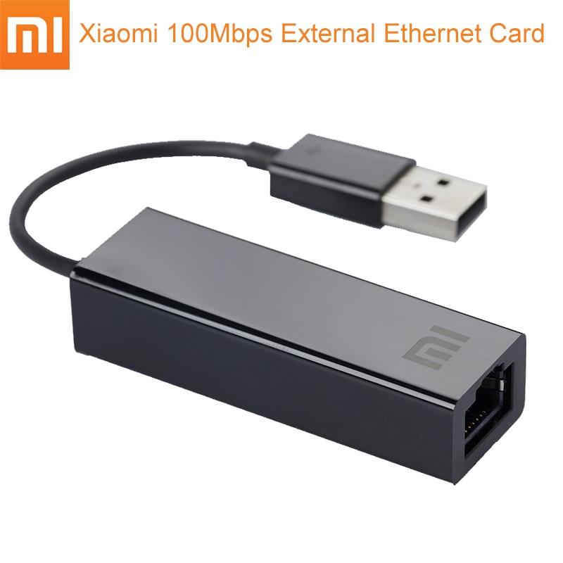 Original Xiaomi USB externo rápido tarjeta Ethernet Mi USB2.0 a Ethernet Cable adaptador LAN 10/100 Mbps tarjetas de red para el ordenador portátil