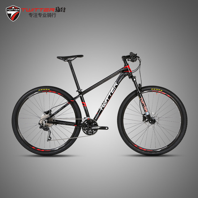 TWITTER MTB BIKE mountain bicycle 29er wheelx15.5/17/19frame 22/27/30/33 Speed aluminum alloy double disc brake bike cycling 17 inch mtb bike raw frame 26 aluminium alloy mountain bike frame bike suspension frame bicycle frame