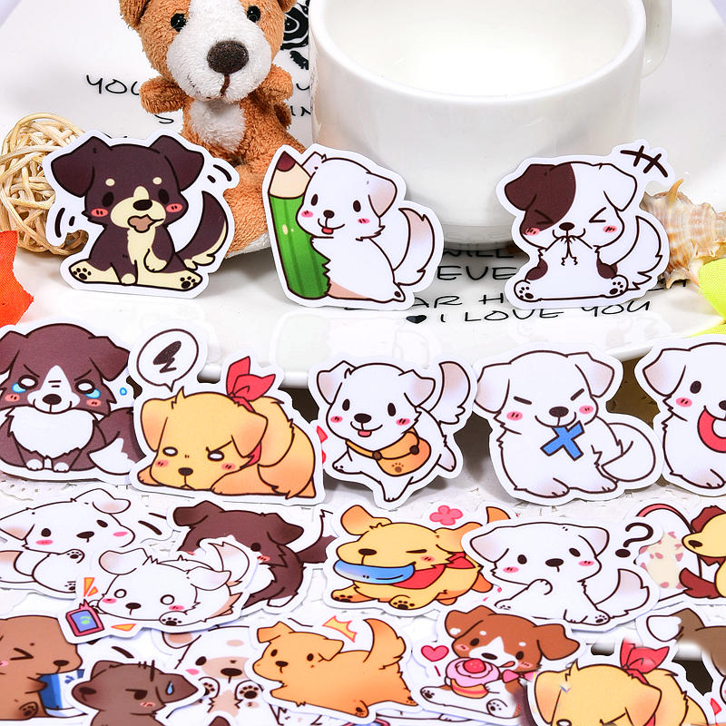 40pcs Creative kawaii Cute Cartoon  dogs  scrapbooking stickers /decorative sticker /DIY craft photo albums/Children40pcs Creative kawaii Cute Cartoon  dogs  scrapbooking stickers /decorative sticker /DIY craft photo albums/Children