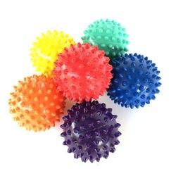 Dropship Fitness PVC Hand Massage Ball PVC Sohlen Hedgehog Sensorische Ausbildung Griff der Ball Tragbare Physiotherapie Ball