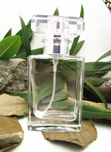 Fashion 30ml Clear Glass Perfume Spray Bottle Square Refillable Bottles for Essential Oil Make up Supplies 10pcs/lot P034