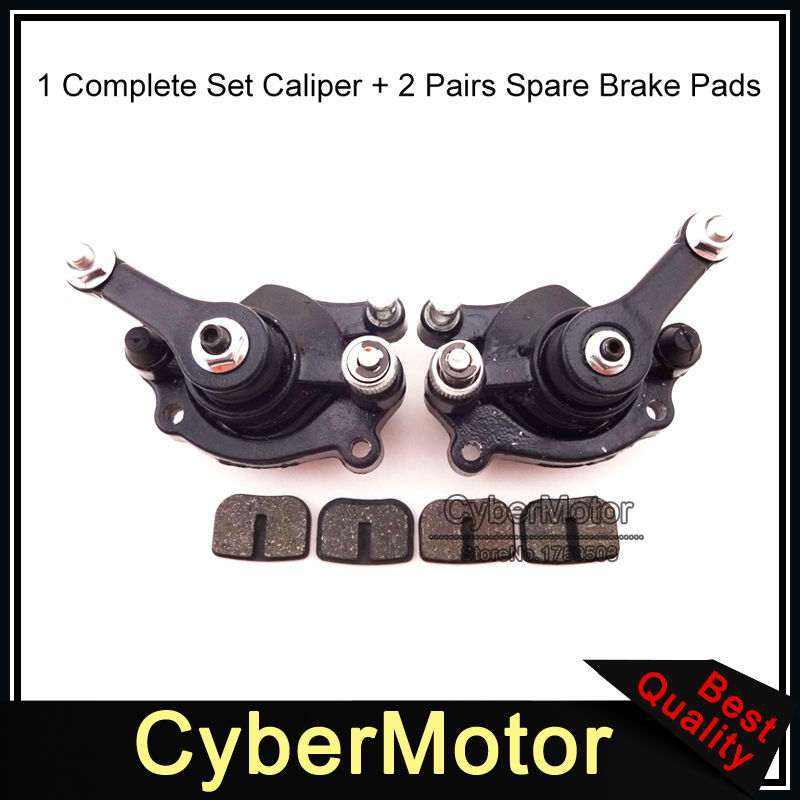 Minimoto Front Rear Disc Brake Caliper Pads For 43cc 47cc 49cc Chinese Mini Moto Kids ATV Quad 4 Wheeler Dirt Bike Gas Scooter gas carburetor throttle cable twist handle grips for 2 stroke 47cc 49cc mini moto dirt kids atv quad super pocket bike