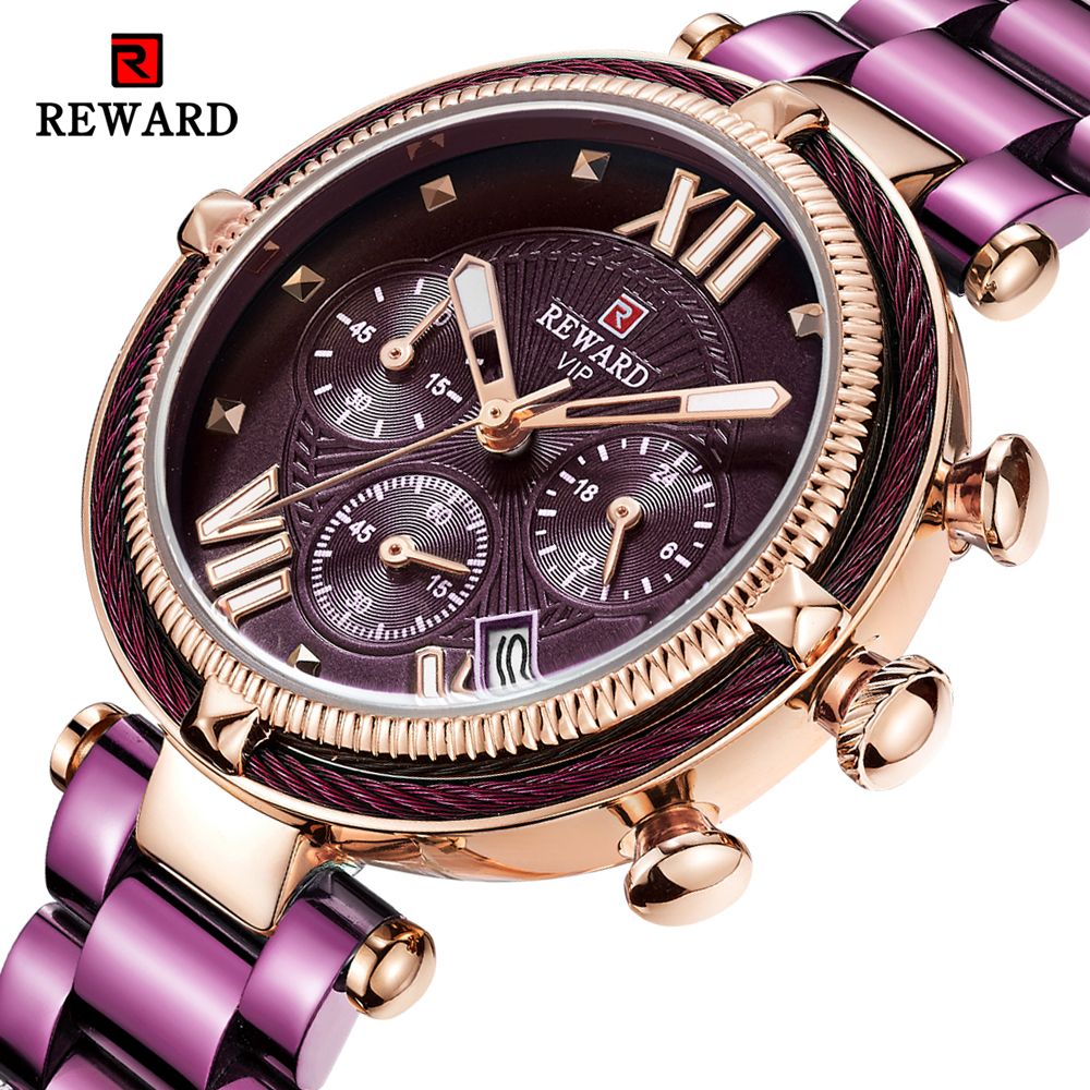 REWARD Top Brand Luxury Women Watches Fashion Steel Strip Quartz Watch For Montre Femme 2020 Ladies Wrist Watch Relogio Feminino|Women's Watches| - AliExpress