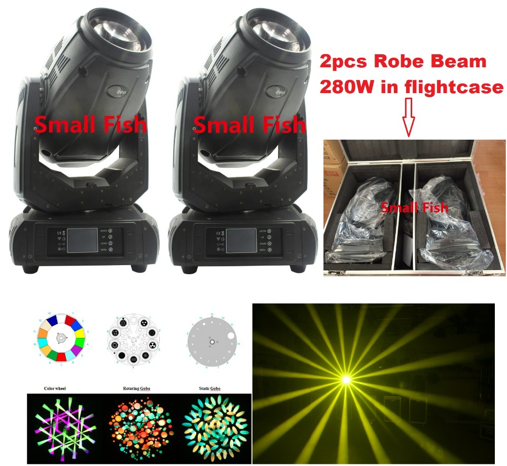 2xLot Newest 280W 10R Robe Beam Spot Wash 3in1 Moving Head Light Beam 280 Beam 10R Robe Pointe 280W Stage Light with Flightcase