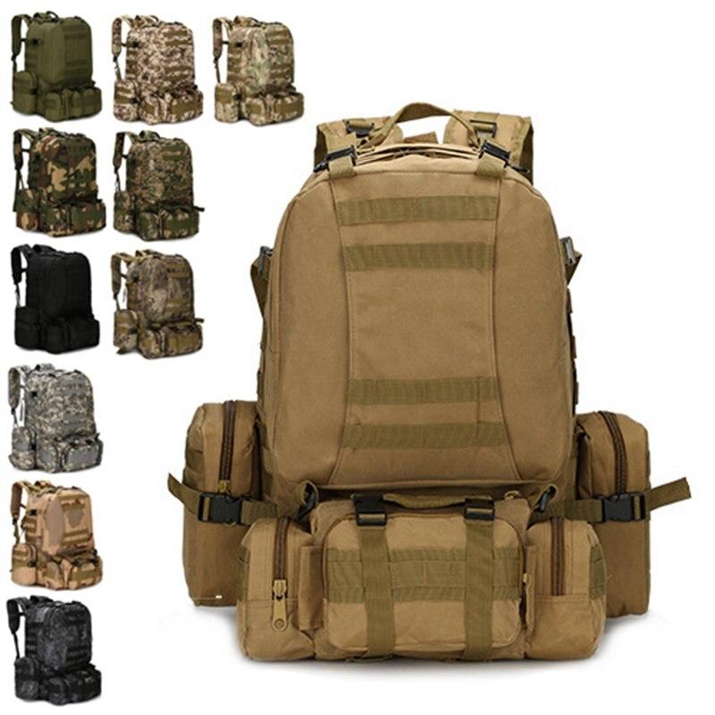 Chasse en plein air randonnée sacs militaire Taactical Molle sac à dos multifonction voyage Camping escalade sac à dos sac de pêche