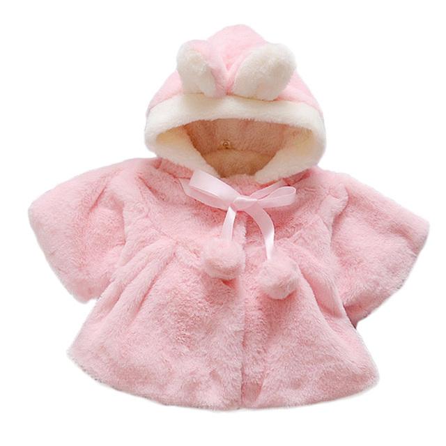 Chaqueta De Invierno de Las Muchachas del bebé Estilo de La Venta Caliente Bebé Outwear 4-24 Meses de Algodón Puro Con Capucha Moda Casual Bebé Ropa de las muchachas