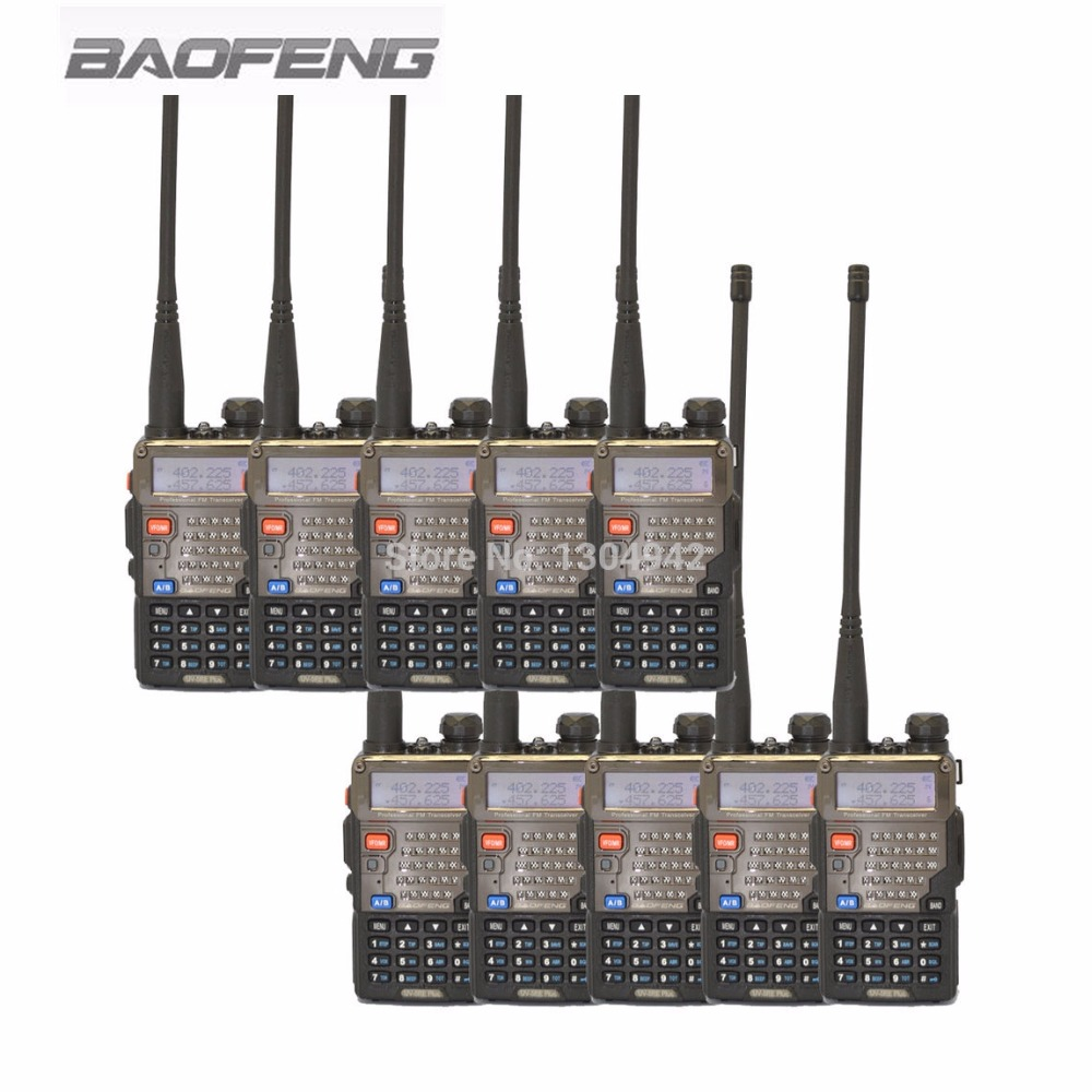 10 PCS BaoFeng UV-5RE Plus Talkie Walkie  Dual Band VHF 136-174MHz&UHF 400-520MHz Transceiver Two Way Radio Portable Interphone10 PCS BaoFeng UV-5RE Plus Talkie Walkie  Dual Band VHF 136-174MHz&UHF 400-520MHz Transceiver Two Way Radio Portable Interphone