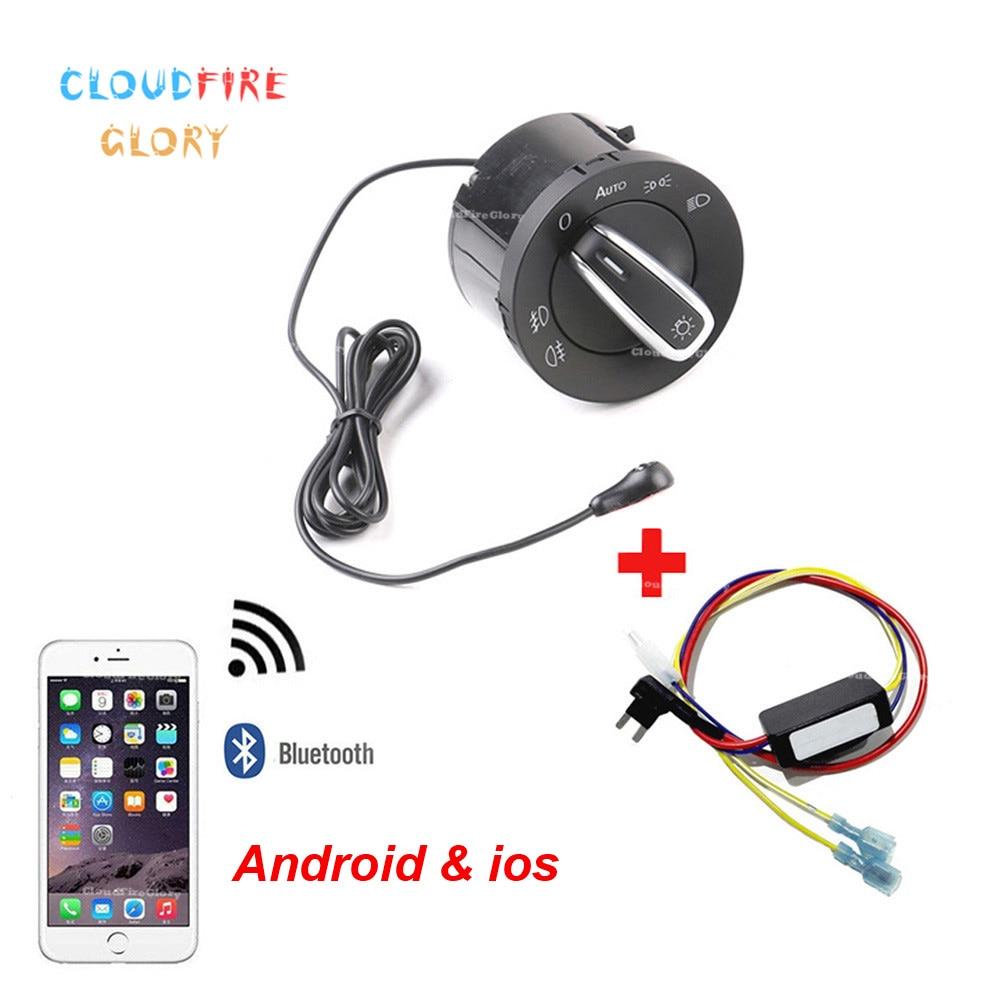 US $34 75 |CloudFireGlory Bluetooth AUTO Headlight Switch Light Sensor C/L  Home Module For VW Golf Jetta 5 6 Tiguan Touran Passat Scirocco-in Car