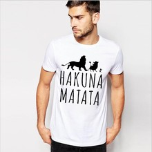 The Lion King Simba Hakuna Matata T Shirts Cotton Short Sleeve Slim Fit Fashion T-Shirts Tops & Tees Men Clothing Joggers Jersey