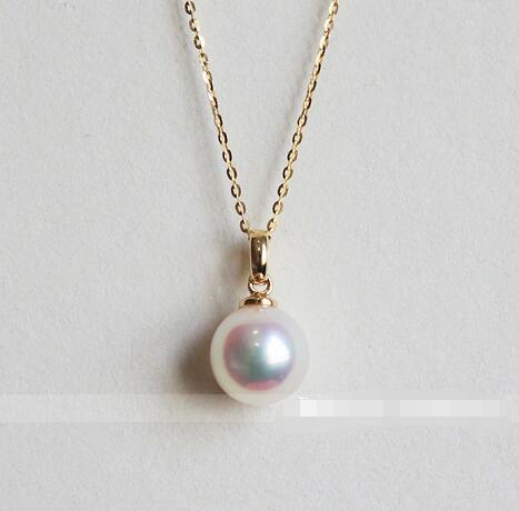 Natural Japanese Akoya Pearl Necklace Pendant
