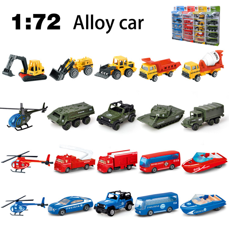 Model Car 2018 1:72 new children's toys new alloy car toy car alloy engineering vehicle 5pcs high simulation cars model