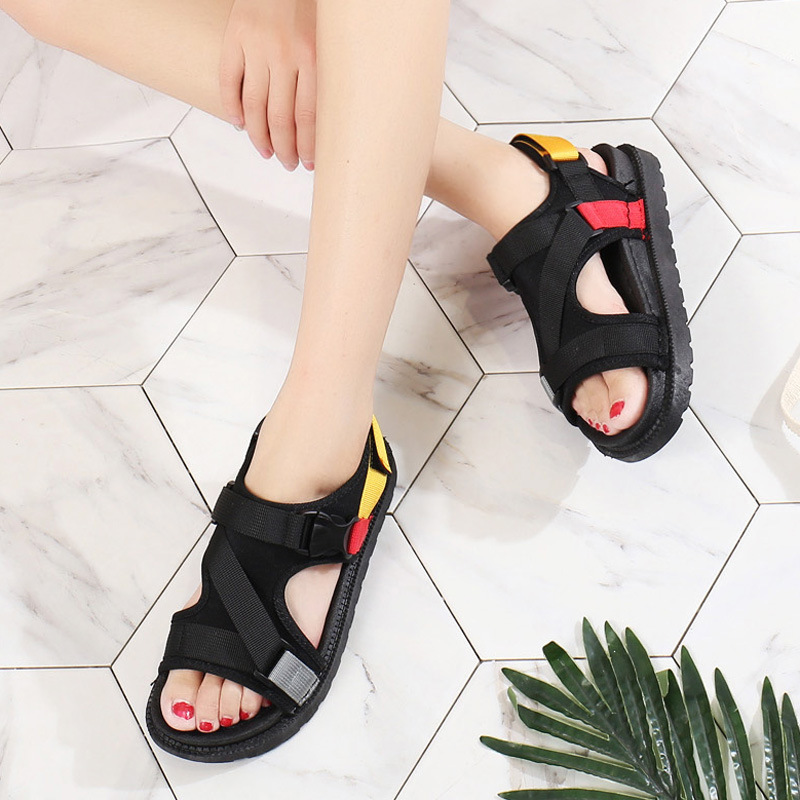 Open Toe Front Rear Strap Flat with Platform Sandals Women Mixed Colors Mixed Colors Casual Ladies Shoes Fashion Basic Sandals 3