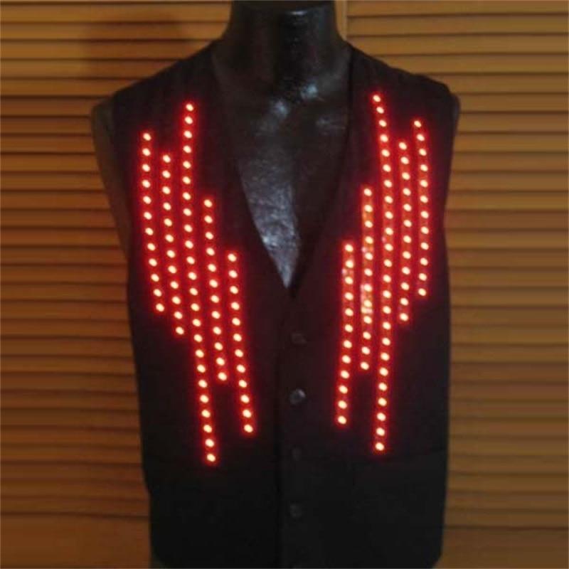 5 шт. подсветкой униформа официанта одежда растет Новинка v-образным вырезом человека жилет светодиод мигает костюм для КТВ бар DJ