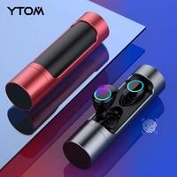 YTOM Deep bass Bluetooth 5.0 Wireless Earphone Earbuds Waterproof Headphone with Charging Box For Apple iPhone 5 6 7 8 X Sony