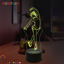 LED 3D Illusion Acrylic Lamp Figure Skating Model Nightlight Touch Switch 7 Colors Bedside Table Lamp lumiparty led table lamp sandglass sleep assistant nightlight rechargeable touch sensitive bedside night lamp minutes timer lamp